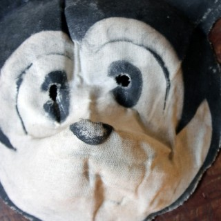 A Rare Linen Child's Mickey Mouse Mask c.1935