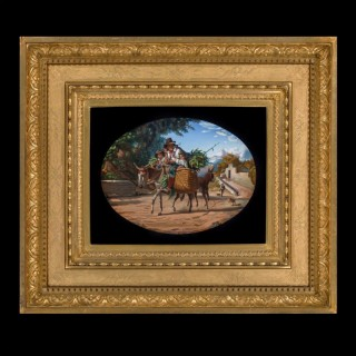 An Arcadian Exhibition-Quality Micromosaic Plaque