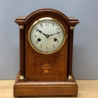 Edwardian Oak Cased Mantel clock