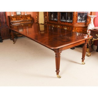 Antique 11ft Regency Flame Mahogany Extending Dining Table C1820 19th C