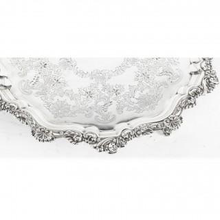 Antique Silver Plated Salver by Fenton Bros C1870 19th Century