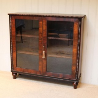 Victorian Rosewood Glazed Bookcase