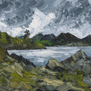 'Light Through the Clouds, Borth-y-Gest  ' by Welsh artist Martin Llewellyn