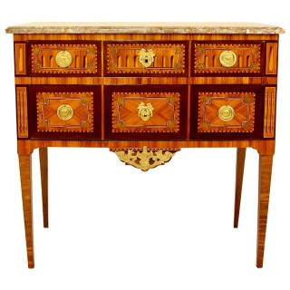 18th Century Louis XVI  Neoclassical Marquetry Commode or Chest of Drawers
