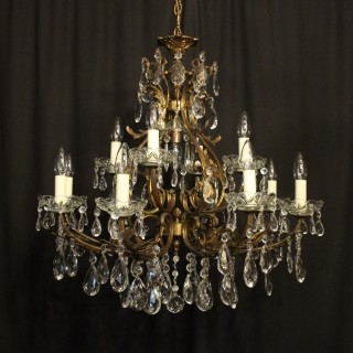 Italian Gilded 13 Light Antique Chandelier