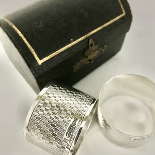 Pair Silver Napkin Rings