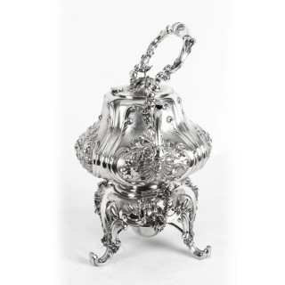 Antique Silver Plate Spirit Kettle on Stand by Elkington C1860 19th C