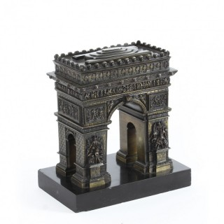 Antique French Bronze Grand Tour Model of The Arc de Triomphe, 19th Century