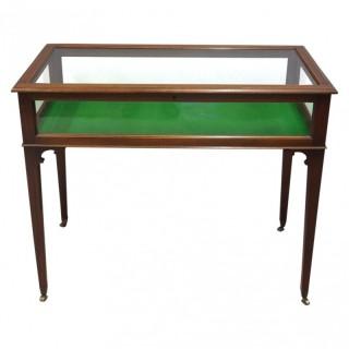 Sheraton Style Inlaid Mahogany Bijouterie Cabinet / Table