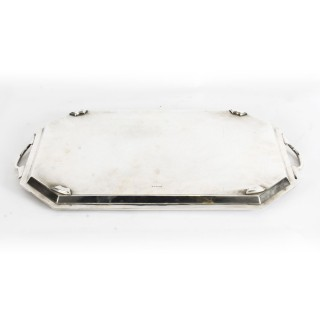 Antique Victorian Silver Plated Service Tray Thomas Latham 19th C
