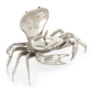 Rare silver crab-form box from Spain