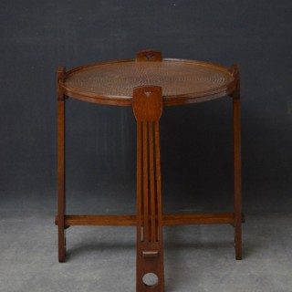 Art Deco Copper Top Table