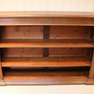Substantial Oak Open Bookcase