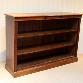 Substantial Open Oak Bookcase