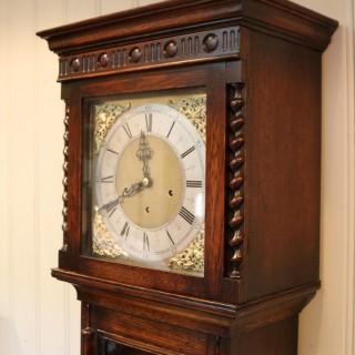 Small Oak Westminster Chime Longcase Clock