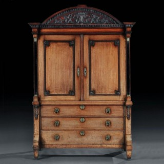 Late 18th Century Neoclassical Dutch Oak Linen Press Of Wonderful Colour