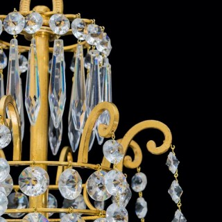 A FINE PAIR OF REGENCY PERIOD CHANDELIERS BY JOHN BLADES