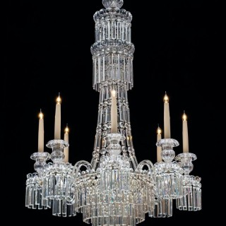 WILLIAM IV ANTIQUE CHANDELIER ATTRIBUTED TO PERRY & CO