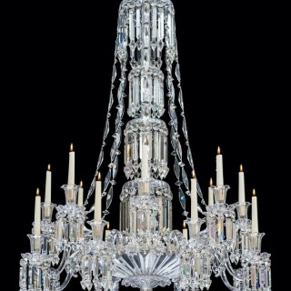 AN EXCEPTIONAL VICTORIAN SLATDISH CHANDELIER BY F&C OSLER