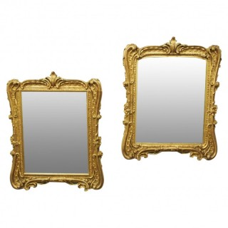 Pair of Victorian Gilded Mirrors