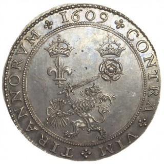 JAMES I, ALLIANCE OF ENGLAND, SILVER MEDAL, 1609