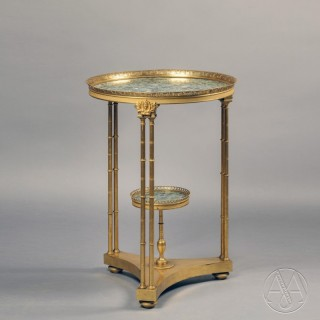 A Fine Louis XVI Style Gilt-Bronze Gueridon