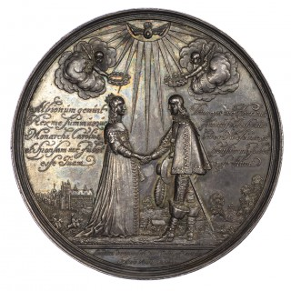 MARRIAGE OF WILLIAM III SILVER MEDAL