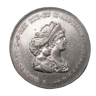 ITALY, TUSCANY, CHARLES LOUIS (LOUIS II OF ETRURIA) AND MARIA LOUISA, 10 LIRE, 1807