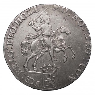 NETHERLANDS, UNITED NETHERLANDS, SILVER 'RIDER' DUCATON, 1791