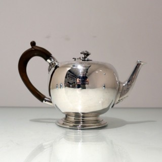 Antique Victorian Sterling Silver Teapot London 1854 William Morisse
