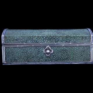 A John Paul Cooper silver and shagreen box