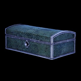 A John Paul Cooper silver and shagreen box