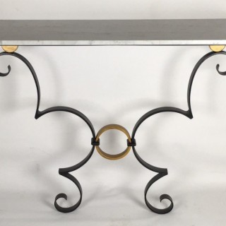 Contemporary hand forged bespoke console table