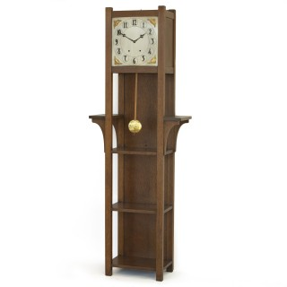 American Arts and Crafts Longcase Shelf clock