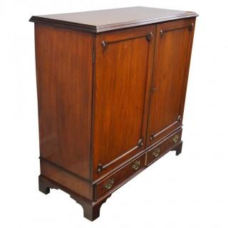 Unusual George III Mahogany Linen Cupboard