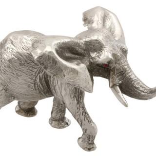 Sterling Silver Model Elephant - Vintage 1973
