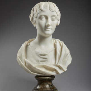 Neoclassical Portrait Bust of Faustina the Younger