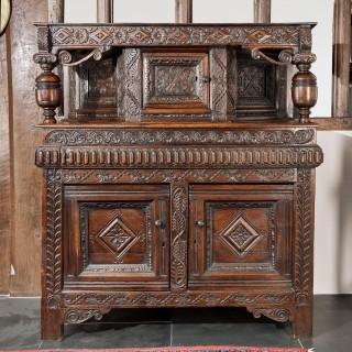 Charles I oak press cupboard