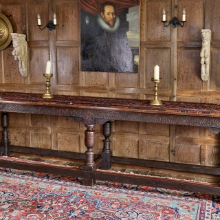 Charles I oak six leg table