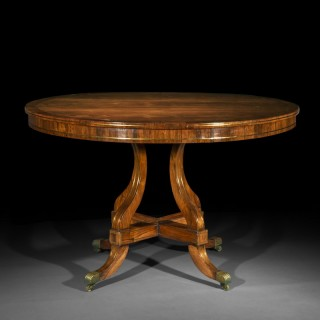 Fine Regency Brass Inalid Centre Table
