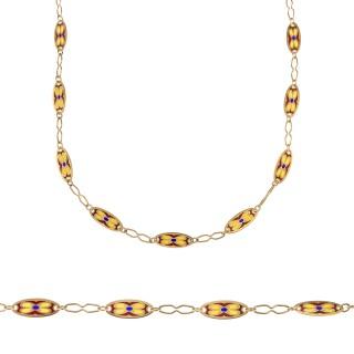 Plaque a jour gold long chain
