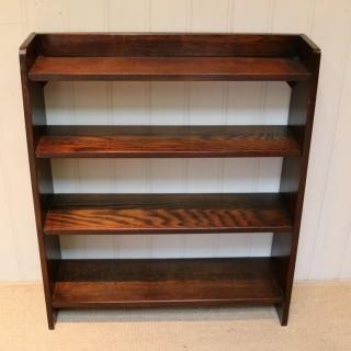 Solid Oak Graduated Bookshelves