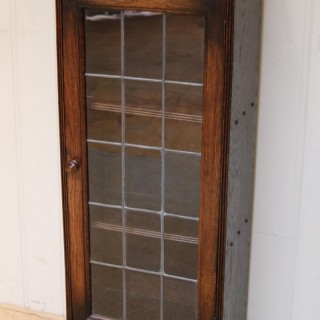 Slim Oak Glazed Bookcase