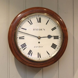 Light Mahogany Fusee Dial Clock