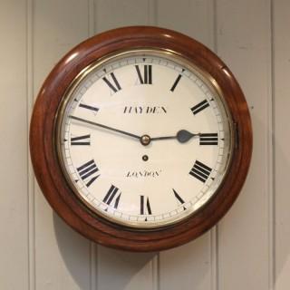 Light Mahogany Fusee Dial Clock