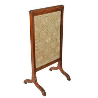 Victorian Walnut Fire Screen