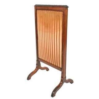 Victorian Walnut Fire Screen