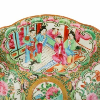 Chinese Canton Famille Rose Dish