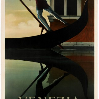 Original Vintage Travel Poster By Cassandre For Venezia Venice Italy
