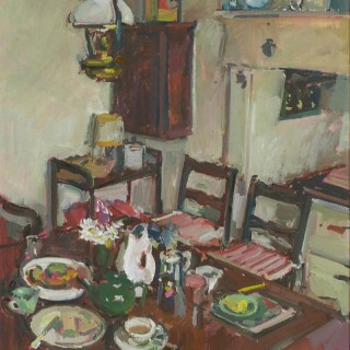 'Interior at the Cottage' original oil painting by Luke Martineau